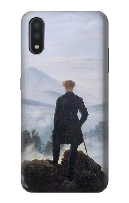 W3789 Wanderer above the Sea of Fog Hülle Schutzhülle Taschen und Leder Flip für Samsung Galaxy A01