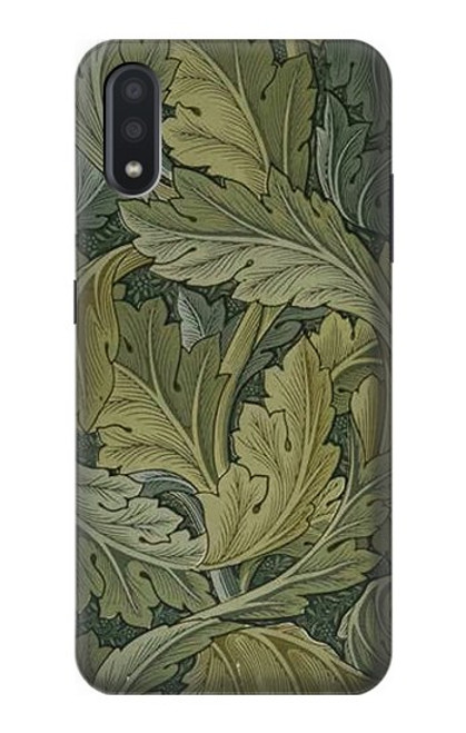 W3790 William Morris Acanthus Leaves Hülle Schutzhülle Taschen und Leder Flip für Samsung Galaxy A01