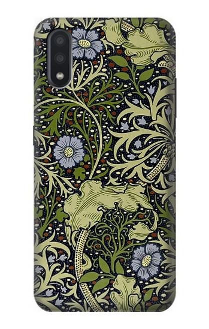 W3792 William Morris Hülle Schutzhülle Taschen und Leder Flip für Samsung Galaxy A01