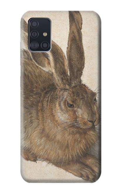 W3781 Albrecht Durer Young Hare Hülle Schutzhülle Taschen und Leder Flip für Samsung Galaxy A51