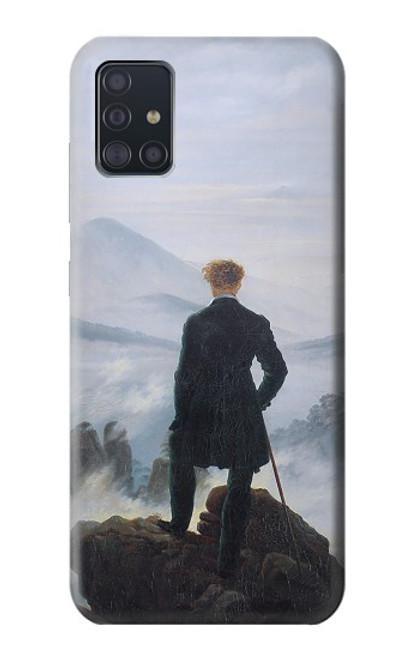 W3789 Wanderer above the Sea of Fog Hülle Schutzhülle Taschen und Leder Flip für Samsung Galaxy A51