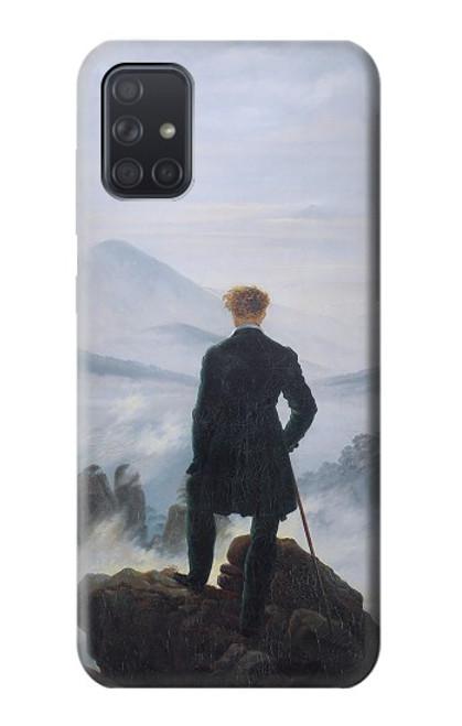 W3789 Wanderer above the Sea of Fog Hülle Schutzhülle Taschen und Leder Flip für Samsung Galaxy A71
