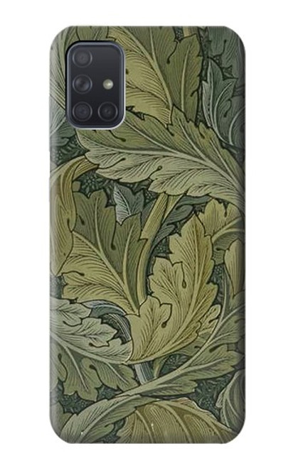 W3790 William Morris Acanthus Leaves Hülle Schutzhülle Taschen und Leder Flip für Samsung Galaxy A71