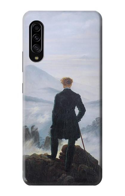 W3789 Wanderer above the Sea of Fog Hülle Schutzhülle Taschen und Leder Flip für Samsung Galaxy A90 5G