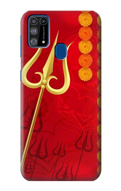 W3788 Shiv Trishul Hülle Schutzhülle Taschen und Leder Flip für Samsung Galaxy M31