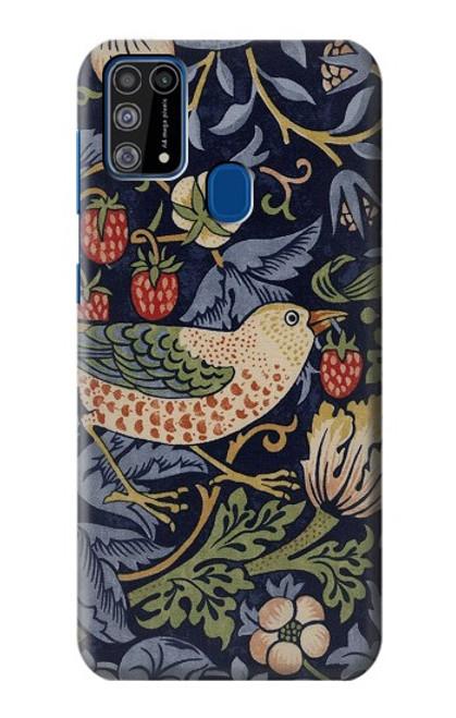 W3791 William Morris Strawberry Thief Fabric Hülle Schutzhülle Taschen und Leder Flip für Samsung Galaxy M31