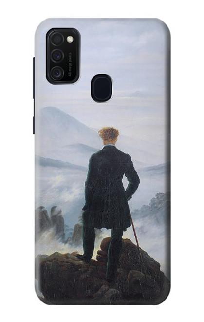 W3789 Wanderer above the Sea of Fog Hülle Schutzhülle Taschen und Leder Flip für Samsung Galaxy M21