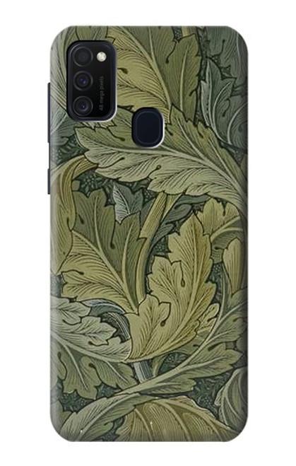 W3790 William Morris Acanthus Leaves Hülle Schutzhülle Taschen und Leder Flip für Samsung Galaxy M21