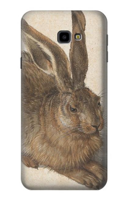 W3781 Albrecht Durer Young Hare Hülle Schutzhülle Taschen und Leder Flip für Samsung Galaxy J4+ (2018), J4 Plus (2018)