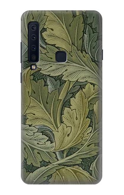 W3790 William Morris Acanthus Leaves Hülle Schutzhülle Taschen und Leder Flip für Samsung Galaxy A9 (2018), A9 Star Pro, A9s