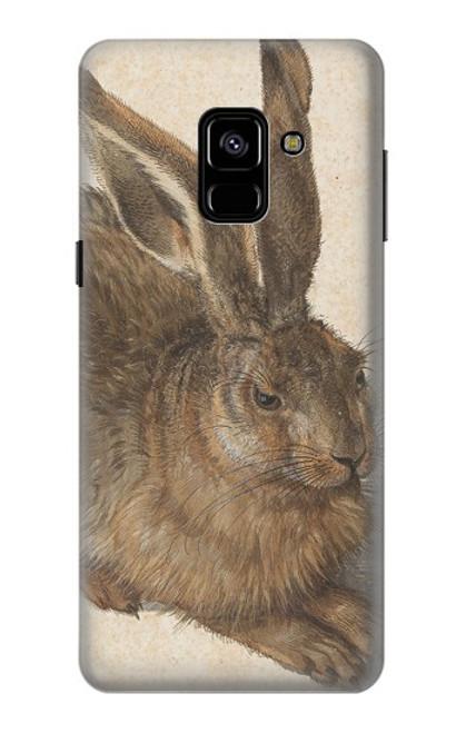 W3781 Albrecht Durer Young Hare Hülle Schutzhülle Taschen und Leder Flip für Samsung Galaxy A8 (2018)