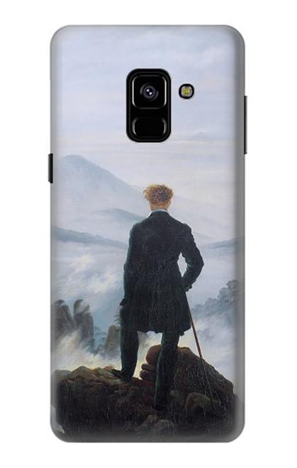 W3789 Wanderer above the Sea of Fog Hülle Schutzhülle Taschen und Leder Flip für Samsung Galaxy A8 (2018)