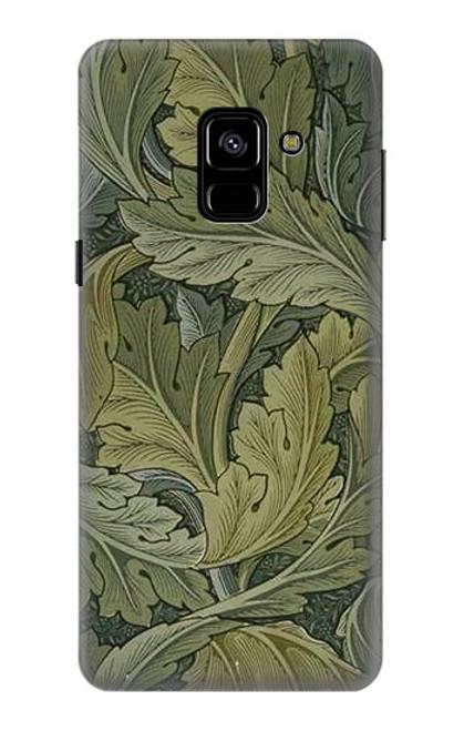 W3790 William Morris Acanthus Leaves Hülle Schutzhülle Taschen und Leder Flip für Samsung Galaxy A8 (2018)