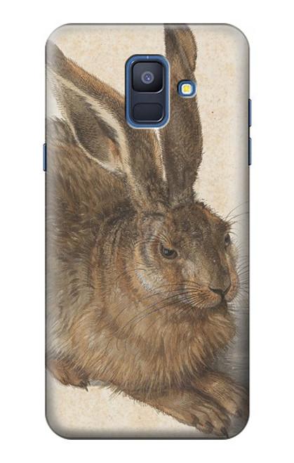 W3781 Albrecht Durer Young Hare Hülle Schutzhülle Taschen und Leder Flip für Samsung Galaxy A6 (2018)
