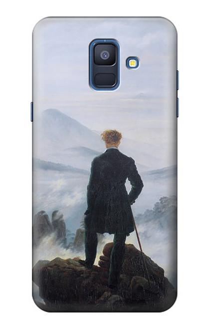 W3789 Wanderer above the Sea of Fog Hülle Schutzhülle Taschen und Leder Flip für Samsung Galaxy A6 (2018)