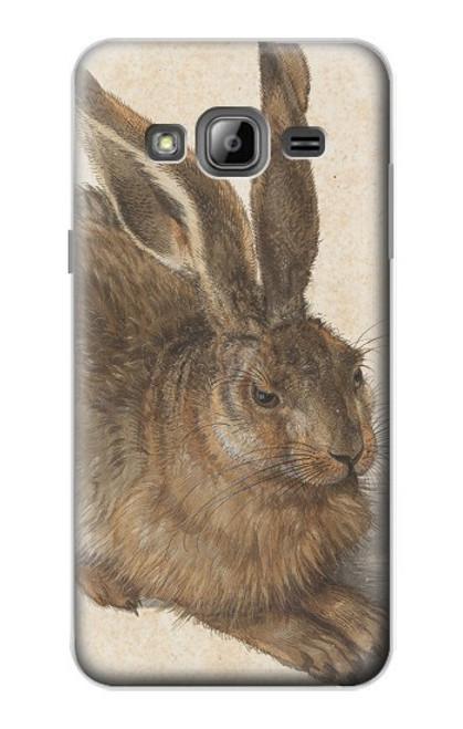 W3781 Albrecht Durer Young Hare Hülle Schutzhülle Taschen und Leder Flip für Samsung Galaxy J3 (2016)