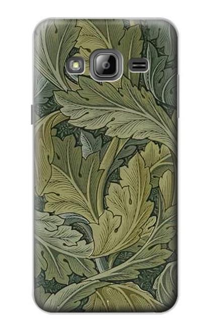 W3790 William Morris Acanthus Leaves Hülle Schutzhülle Taschen und Leder Flip für Samsung Galaxy J3 (2016)