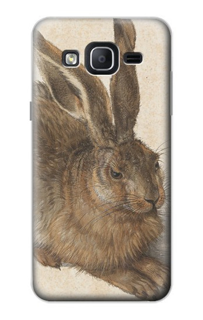 W3781 Albrecht Durer Young Hare Hülle Schutzhülle Taschen und Leder Flip für Samsung Galaxy On5