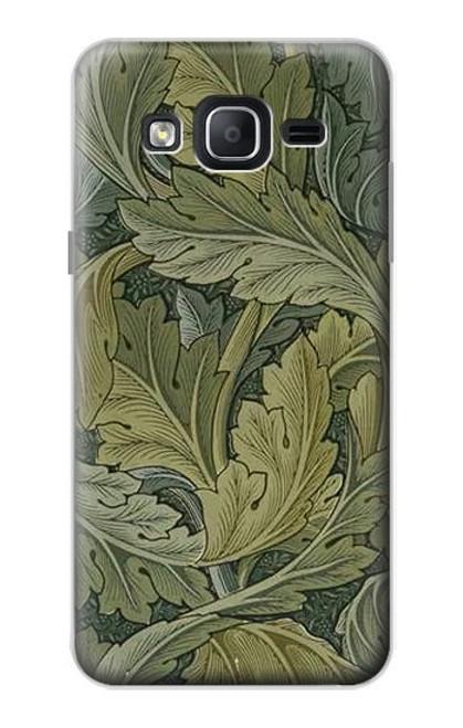W3790 William Morris Acanthus Leaves Hülle Schutzhülle Taschen und Leder Flip für Samsung Galaxy On5