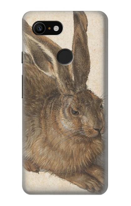 W3781 Albrecht Durer Young Hare Hülle Schutzhülle Taschen und Leder Flip für Google Pixel 3
