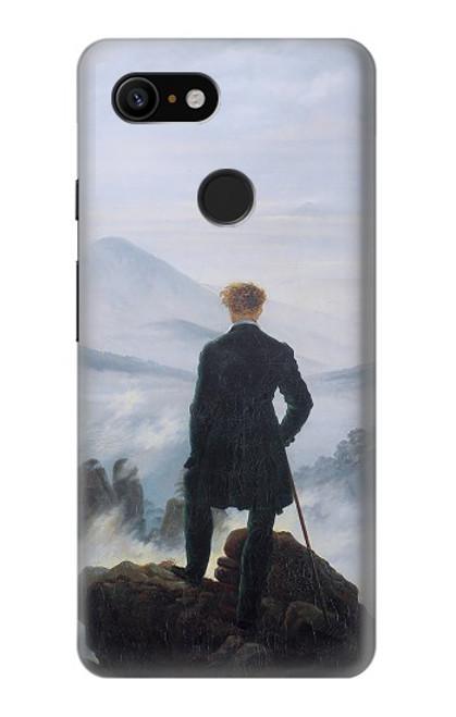 W3789 Wanderer above the Sea of Fog Hülle Schutzhülle Taschen und Leder Flip für Google Pixel 3