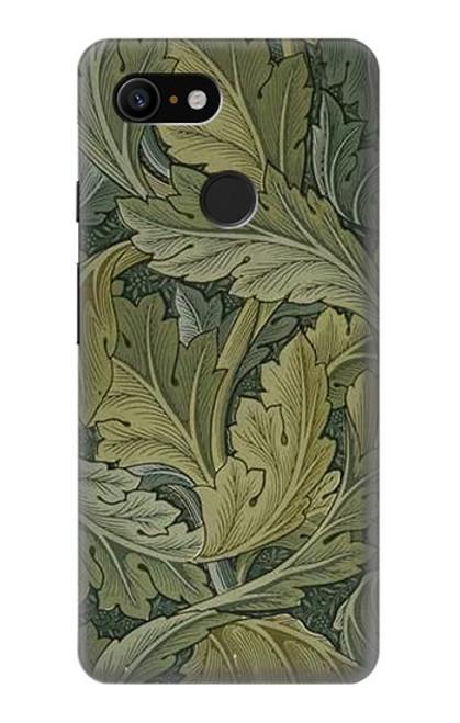 W3790 William Morris Acanthus Leaves Hülle Schutzhülle Taschen und Leder Flip für Google Pixel 3