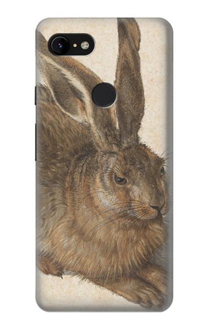 W3781 Albrecht Durer Young Hare Hülle Schutzhülle Taschen und Leder Flip für Google Pixel 3 XL