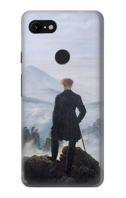 W3789 Wanderer above the Sea of Fog Hülle Schutzhülle Taschen und Leder Flip für Google Pixel 3 XL