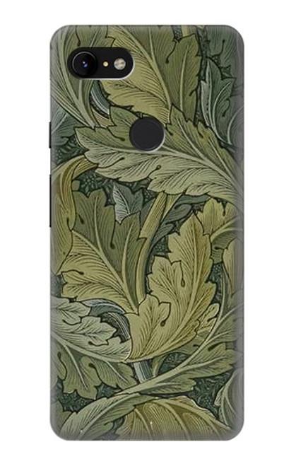 W3790 William Morris Acanthus Leaves Hülle Schutzhülle Taschen und Leder Flip für Google Pixel 3 XL