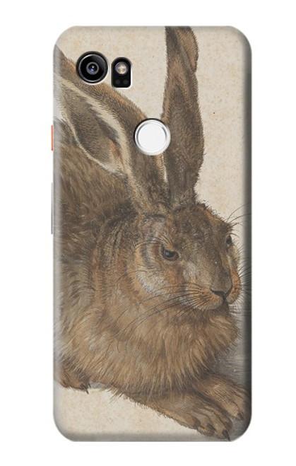 W3781 Albrecht Durer Young Hare Hülle Schutzhülle Taschen und Leder Flip für Google Pixel 2 XL