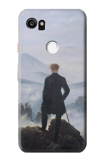 W3789 Wanderer above the Sea of Fog Hülle Schutzhülle Taschen und Leder Flip für Google Pixel 2 XL