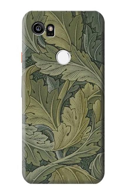 W3790 William Morris Acanthus Leaves Hülle Schutzhülle Taschen und Leder Flip für Google Pixel 2 XL