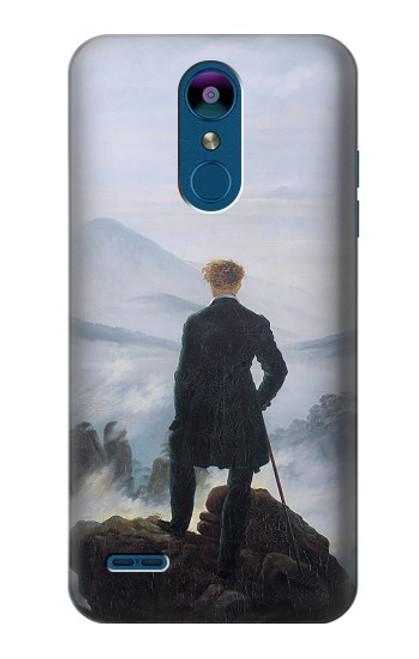 W3789 Wanderer above the Sea of Fog Hülle Schutzhülle Taschen und Leder Flip für LG K8 (2018)