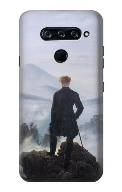 W3789 Wanderer above the Sea of Fog Hülle Schutzhülle Taschen und Leder Flip für LG V40, LG V40 ThinQ