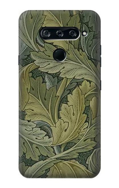 W3790 William Morris Acanthus Leaves Hülle Schutzhülle Taschen und Leder Flip für LG V40, LG V40 ThinQ