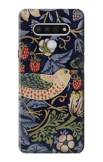 W3791 William Morris Strawberry Thief Fabric Hülle Schutzhülle Taschen und Leder Flip für LG Stylo 6