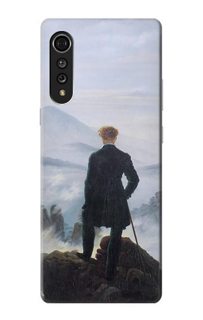 W3789 Wanderer above the Sea of Fog Hülle Schutzhülle Taschen und Leder Flip für LG Velvet