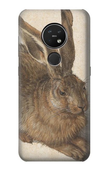 W3781 Albrecht Durer Young Hare Hülle Schutzhülle Taschen und Leder Flip für Nokia 7.2