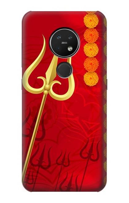 W3788 Shiv Trishul Hülle Schutzhülle Taschen und Leder Flip für Nokia 7.2