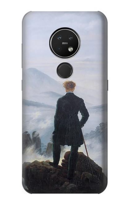 W3789 Wanderer above the Sea of Fog Hülle Schutzhülle Taschen und Leder Flip für Nokia 7.2