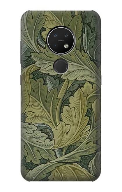 W3790 William Morris Acanthus Leaves Hülle Schutzhülle Taschen und Leder Flip für Nokia 7.2