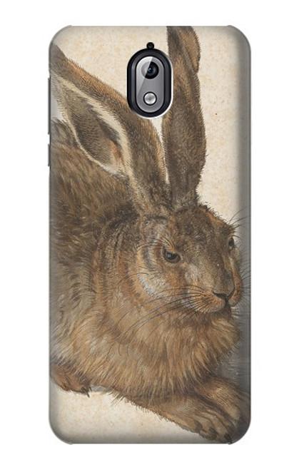 W3781 Albrecht Durer Young Hare Hülle Schutzhülle Taschen und Leder Flip für Nokia 3.1