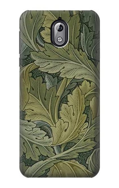 W3790 William Morris Acanthus Leaves Hülle Schutzhülle Taschen und Leder Flip für Nokia 3.1