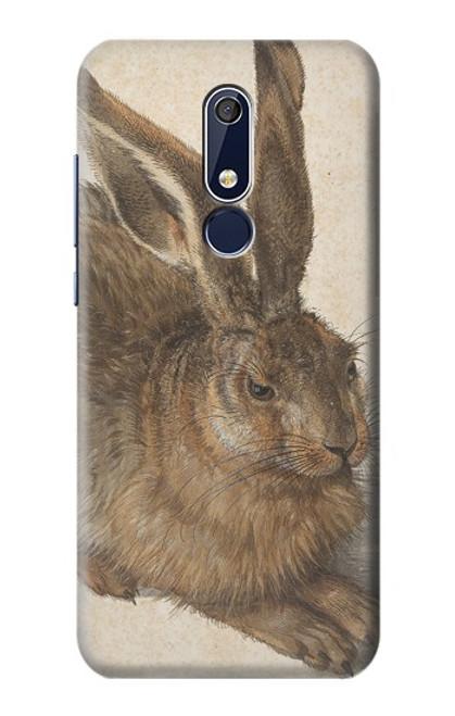 W3781 Albrecht Durer Young Hare Hülle Schutzhülle Taschen und Leder Flip für Nokia 5.1, Nokia 5 2018