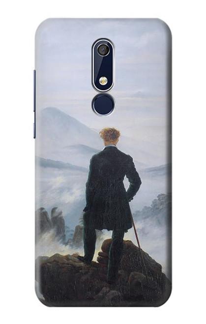 W3789 Wanderer above the Sea of Fog Hülle Schutzhülle Taschen und Leder Flip für Nokia 5.1, Nokia 5 2018