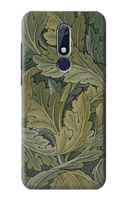 W3790 William Morris Acanthus Leaves Hülle Schutzhülle Taschen und Leder Flip für Nokia 5.1, Nokia 5 2018