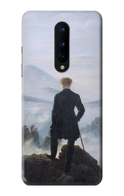 W3789 Wanderer above the Sea of Fog Hülle Schutzhülle Taschen und Leder Flip für OnePlus 8