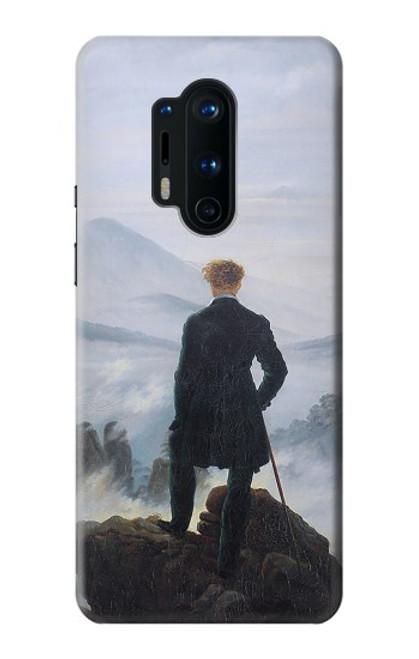 W3789 Wanderer above the Sea of Fog Hülle Schutzhülle Taschen und Leder Flip für OnePlus 8 Pro