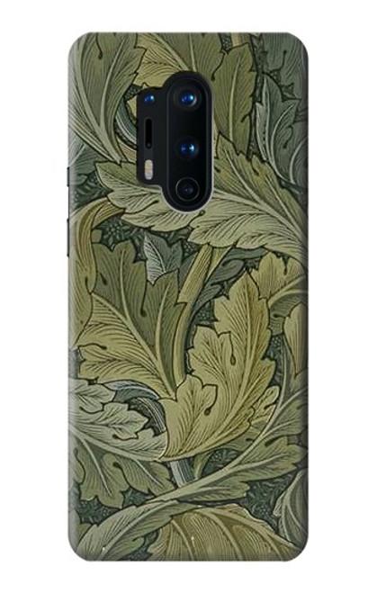 W3790 William Morris Acanthus Leaves Hülle Schutzhülle Taschen und Leder Flip für OnePlus 8 Pro