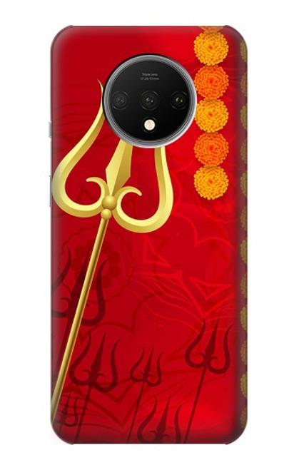 W3788 Shiv Trishul Hülle Schutzhülle Taschen und Leder Flip für OnePlus 7T